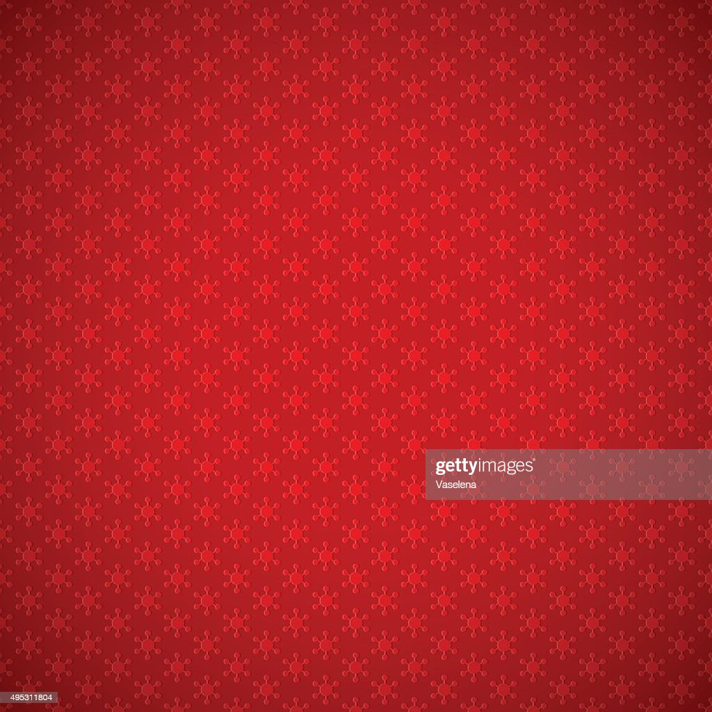 Red background of seamless pattern with snowflakes