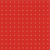 Red background with white dots in a recurring square pattern