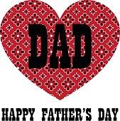 red bandana heart fathers day