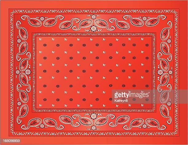 red bandanna - bandana stock illustrations