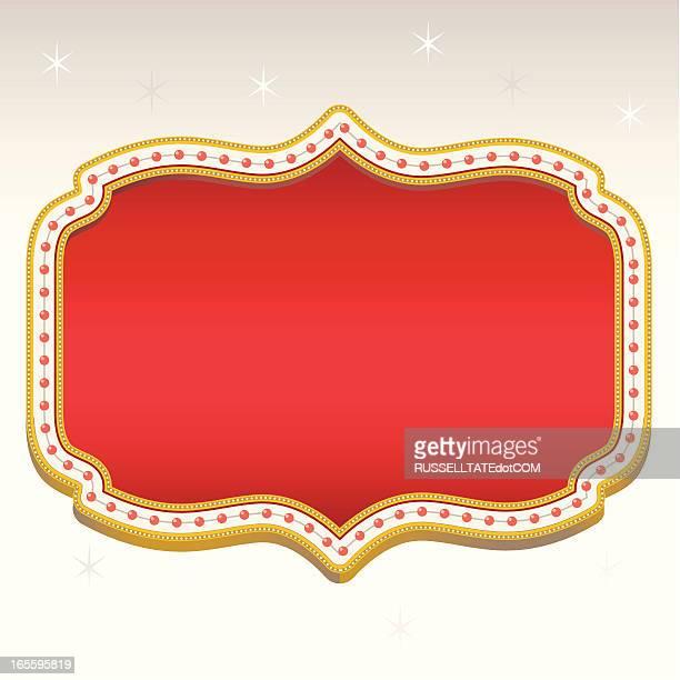 ilustrações, clipart, desenhos animados e ícones de banner vermelho vegas - faixa sinal