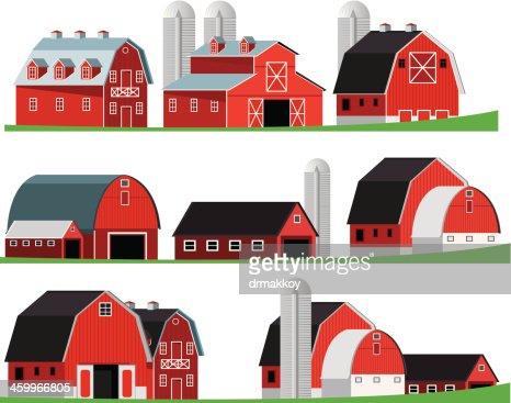 Red Barn Vector Art