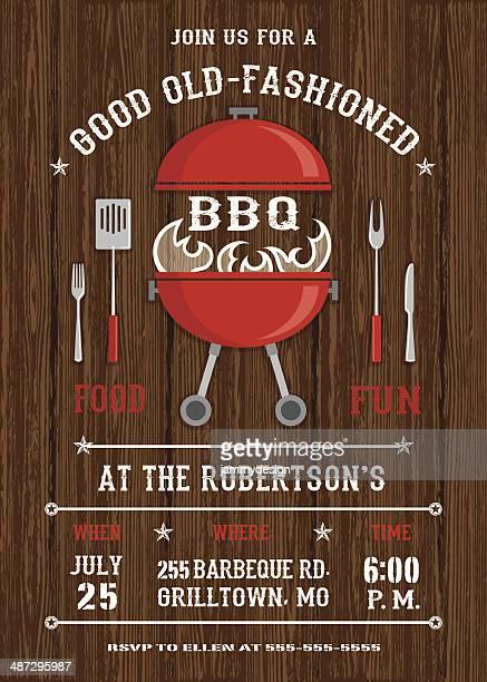 red bbq grill invitation - ketchup stock illustrations, clip art, cartoons, & icons