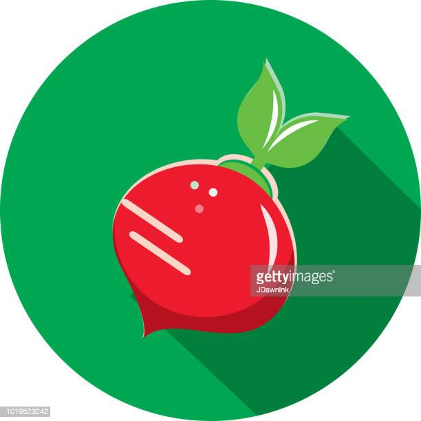 red beet with leaves vegetables flat design themed icon with shadow - antioxidant stock illustrations, clip art, cartoons, & icons