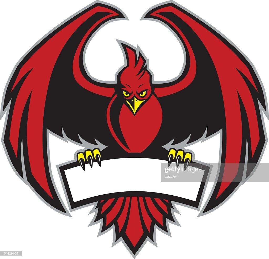 Red Bird Mascot Vector Art Getty Images