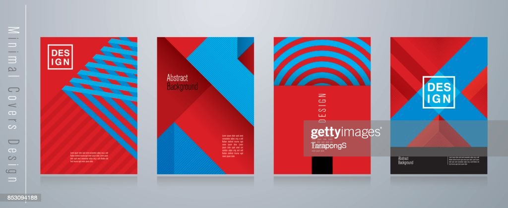 Red blue and black abstract background. Minimal covers design.
