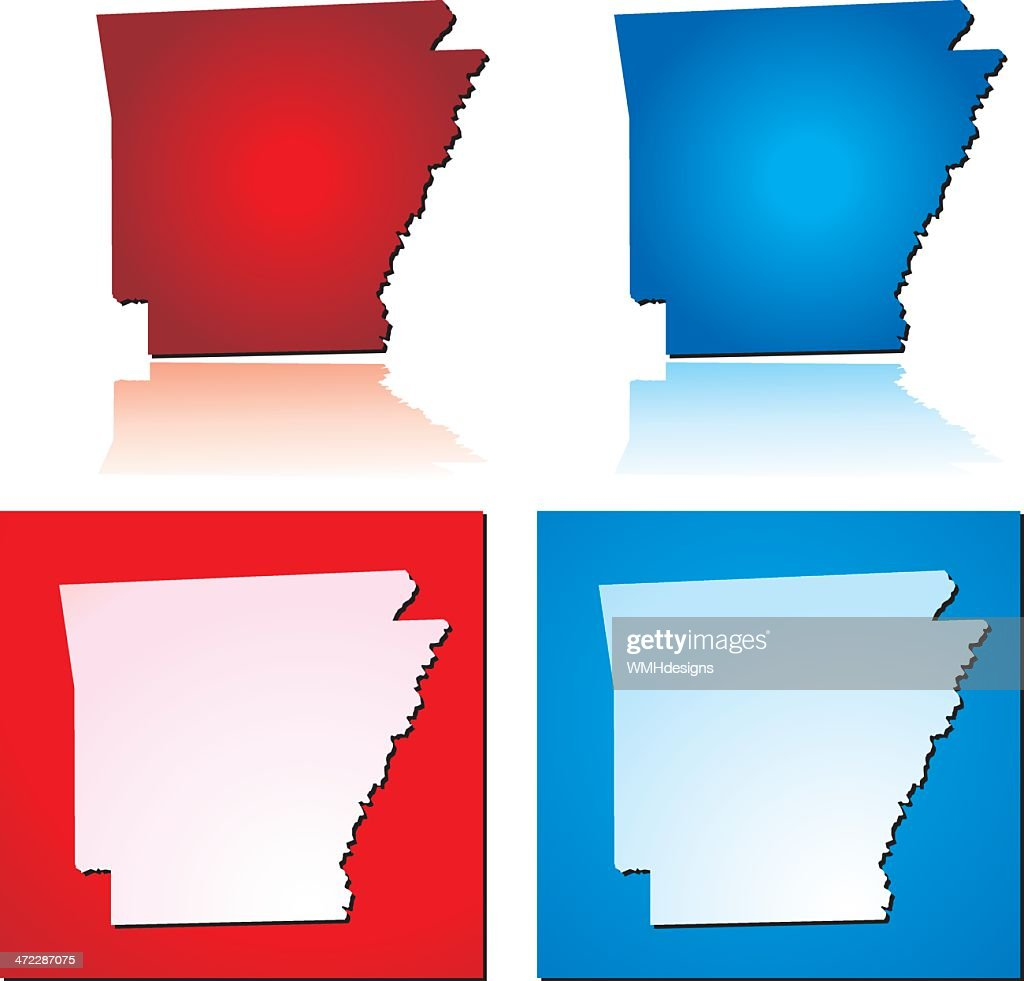 Red Blue Arkansas