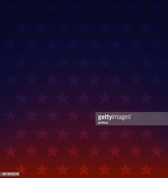 red blue stars - vertical stock illustrations