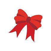 Red bow illustration