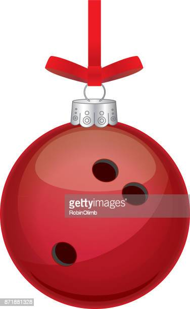 red bowling ball christmas ornament - bowling stock illustrations, clip art, cartoons, & icons