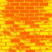 Red Brick wall of the house, with lines