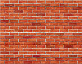 Red brick wall seamless background.