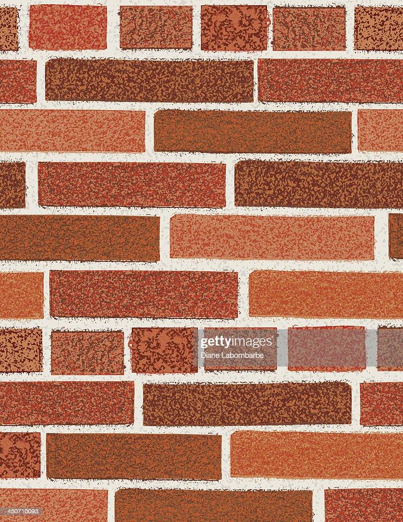 Mur En Brique Rouge mur de brique rouge illustration - getty images