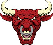Red bull mascot face