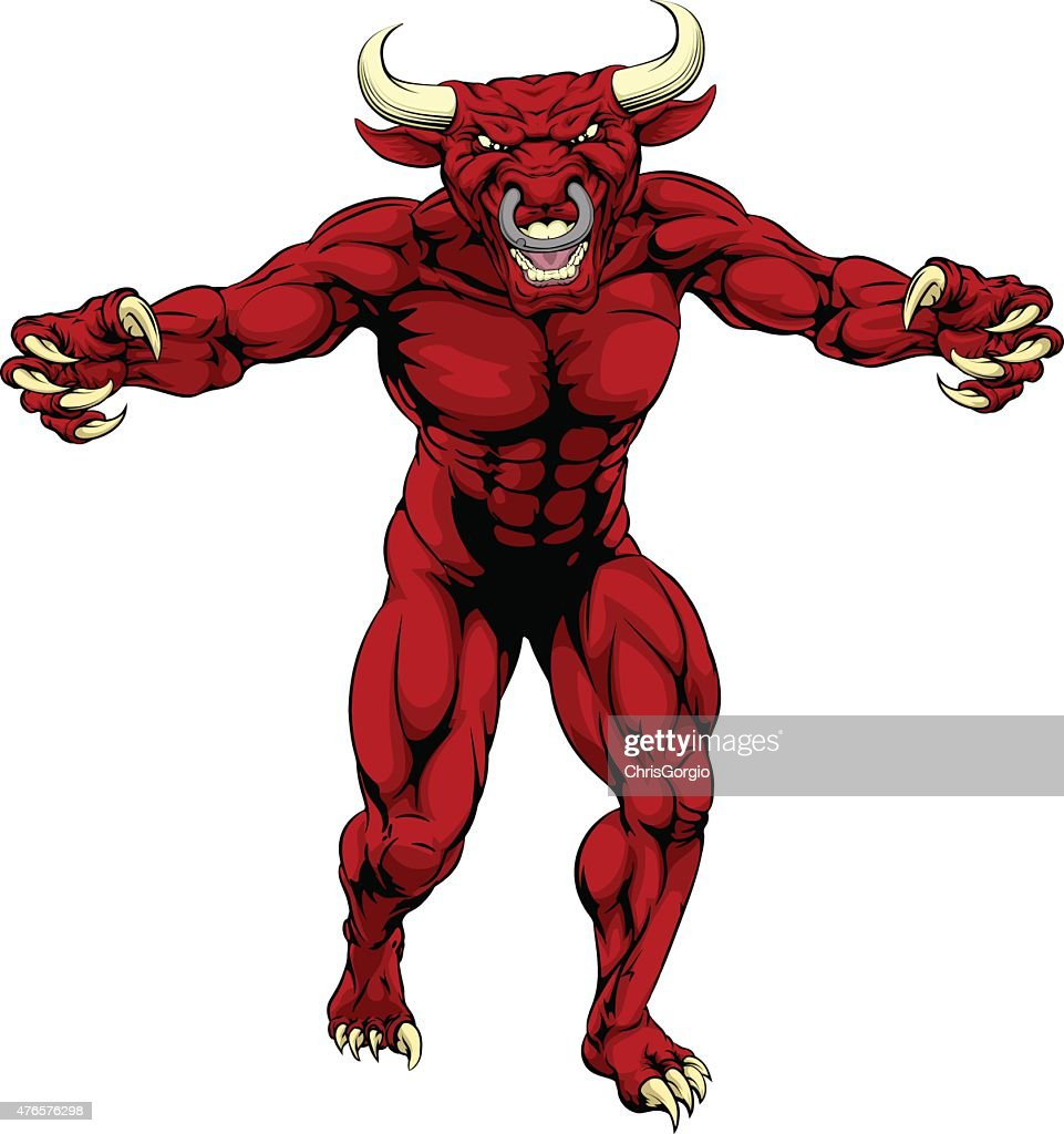 Red bull sports mascot