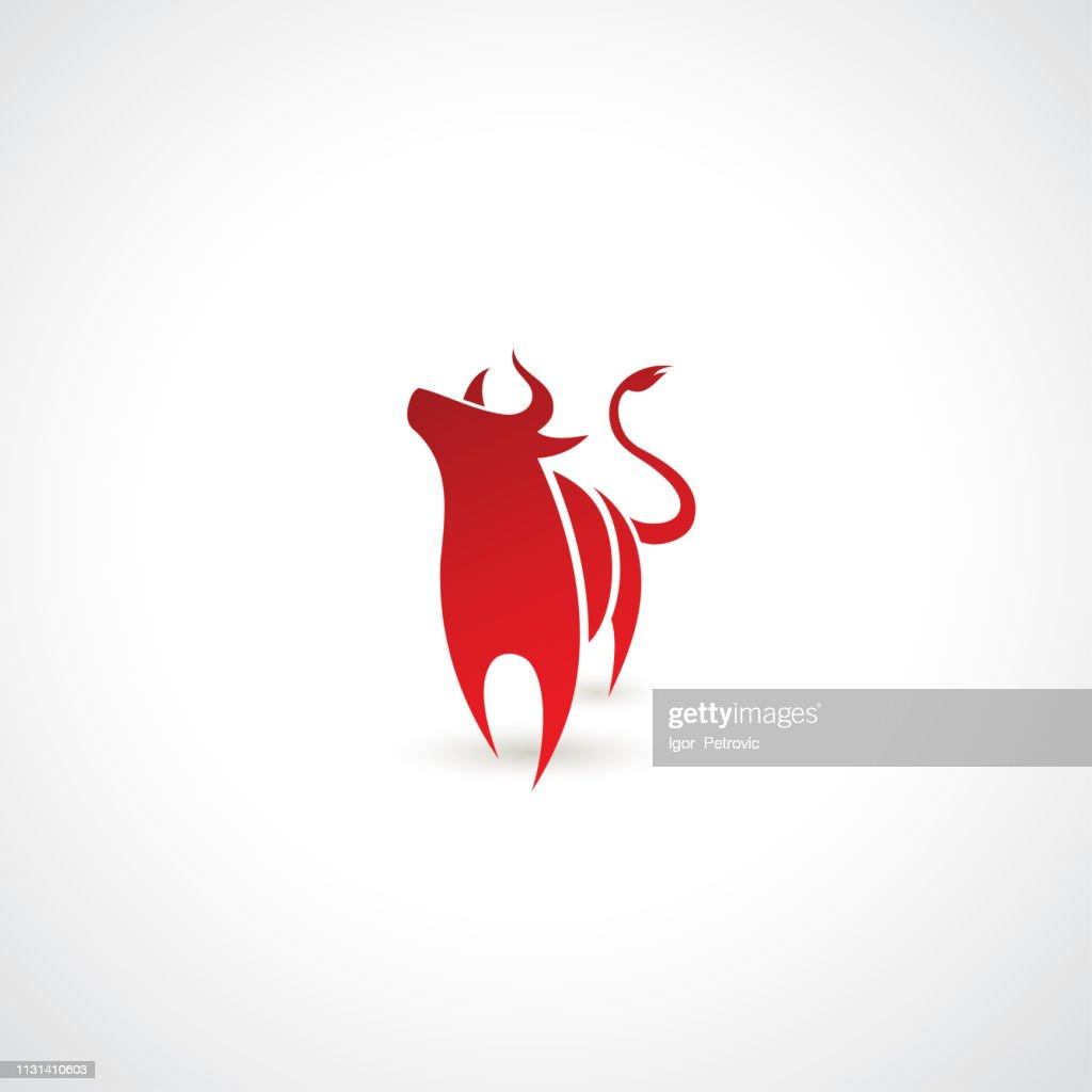 Red bull symbol - vector illustration