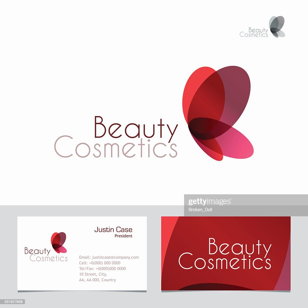 Red Butterfly Sign & Business Card