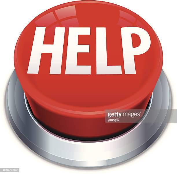 大きなレッドボタンが - 単語 help点のイラスト素材/クリップアート素材/マンガ素材/アイコン素材