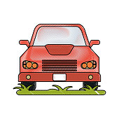 red car icon image