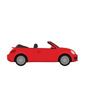 Red car.