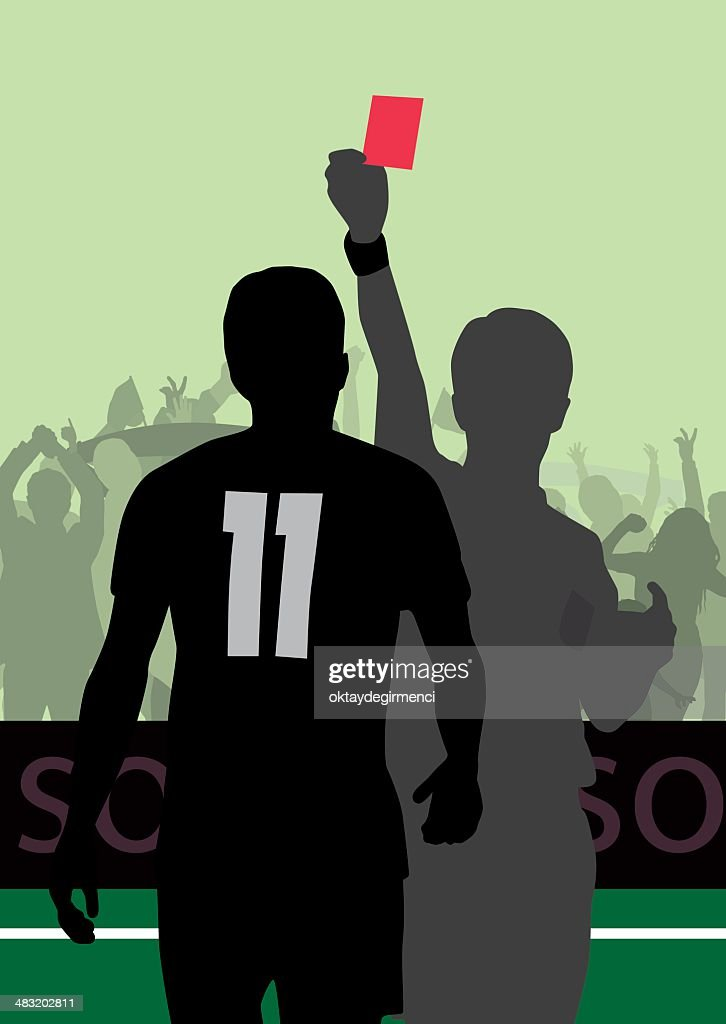 red card : stock illustration