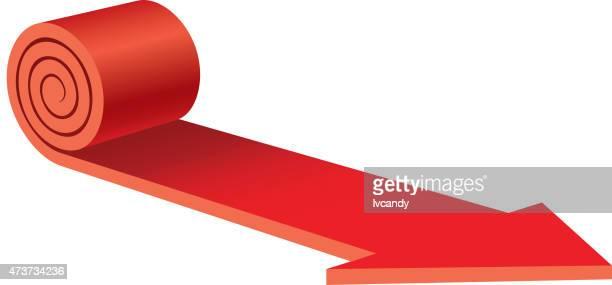 Red carpet arrow