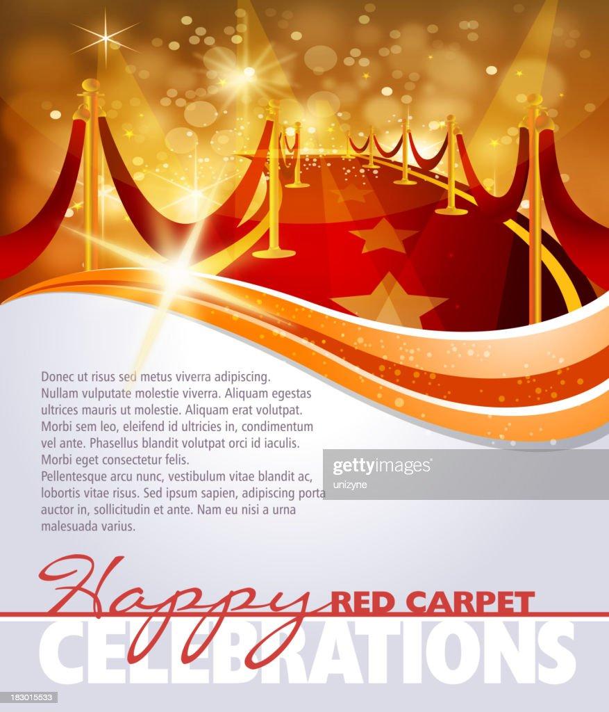 Red Carpet Background for leaflet : stock illustration