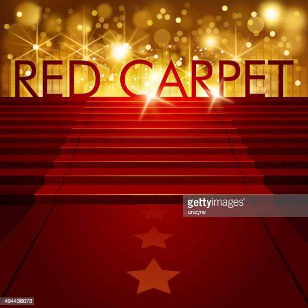 Alfombra roja fondo con espacio de copia