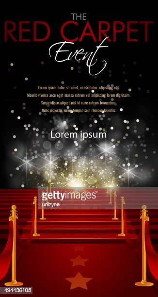 red carpet background with copy space - award stock illustrations