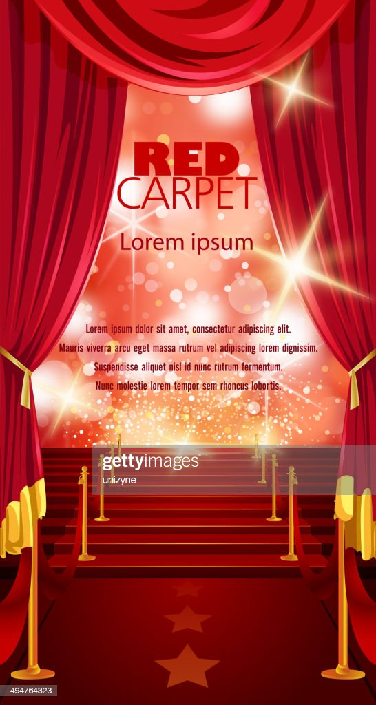 Red Carpet Background with Copy Space : stock illustration
