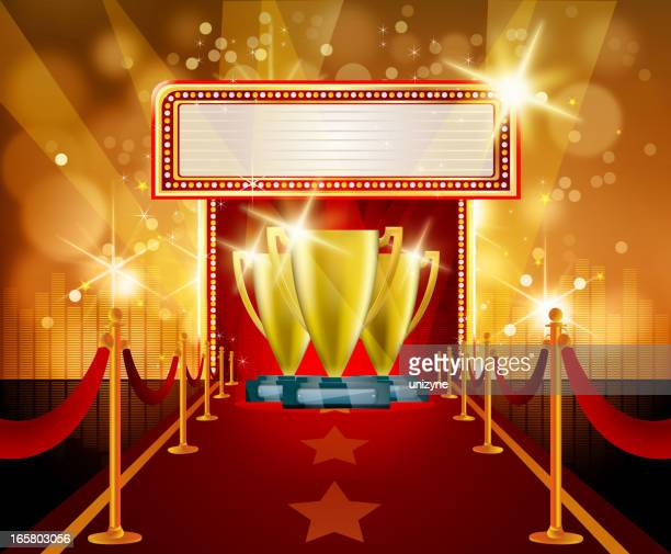 Red Carpet Celebration with Trophies