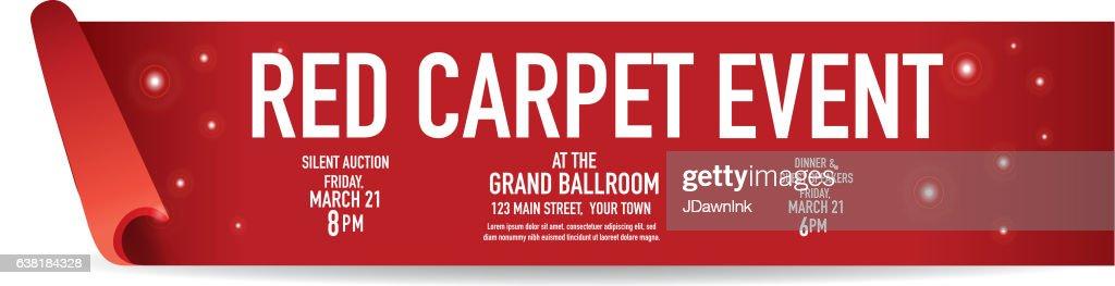 Red Carpet Event banner design template : stock illustration