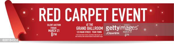 red carpet event banner design template - red carpet event stock illustrations