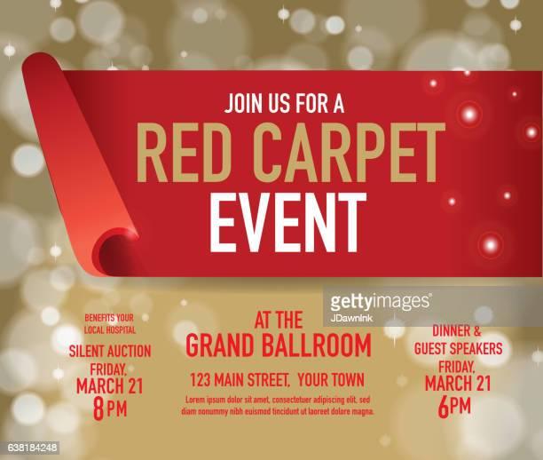 illustrations, cliparts, dessins animés et icônes de modèle de conception d'événement tapis rouge - red carpet event