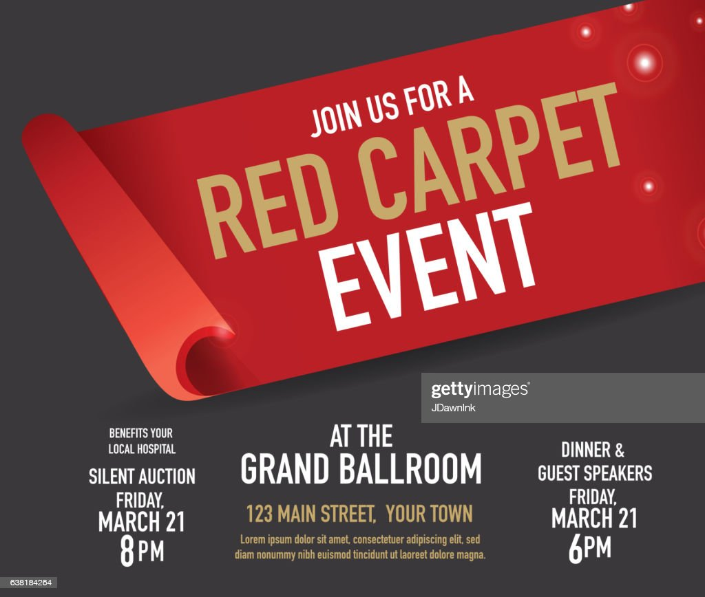 Red Carpet Event Design Template Vector Art | Getty Images