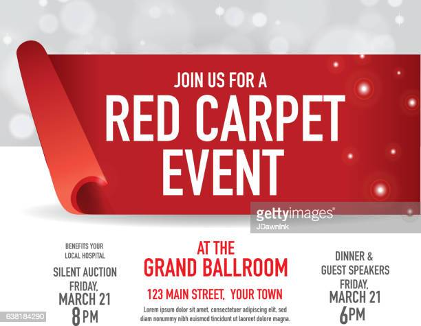 Red Carpet Event design template