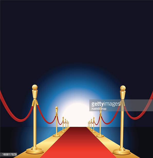 Red Carpet Event, Velvet Ropes and Stanchion Background