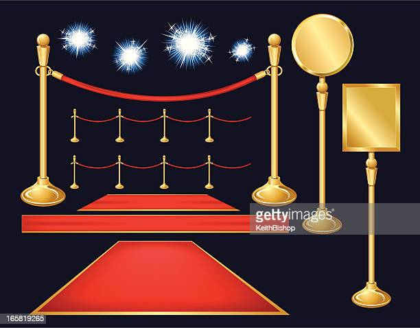 Red Carpet Paparazzi, Velvet Ropes, Stanchion, Sign Background