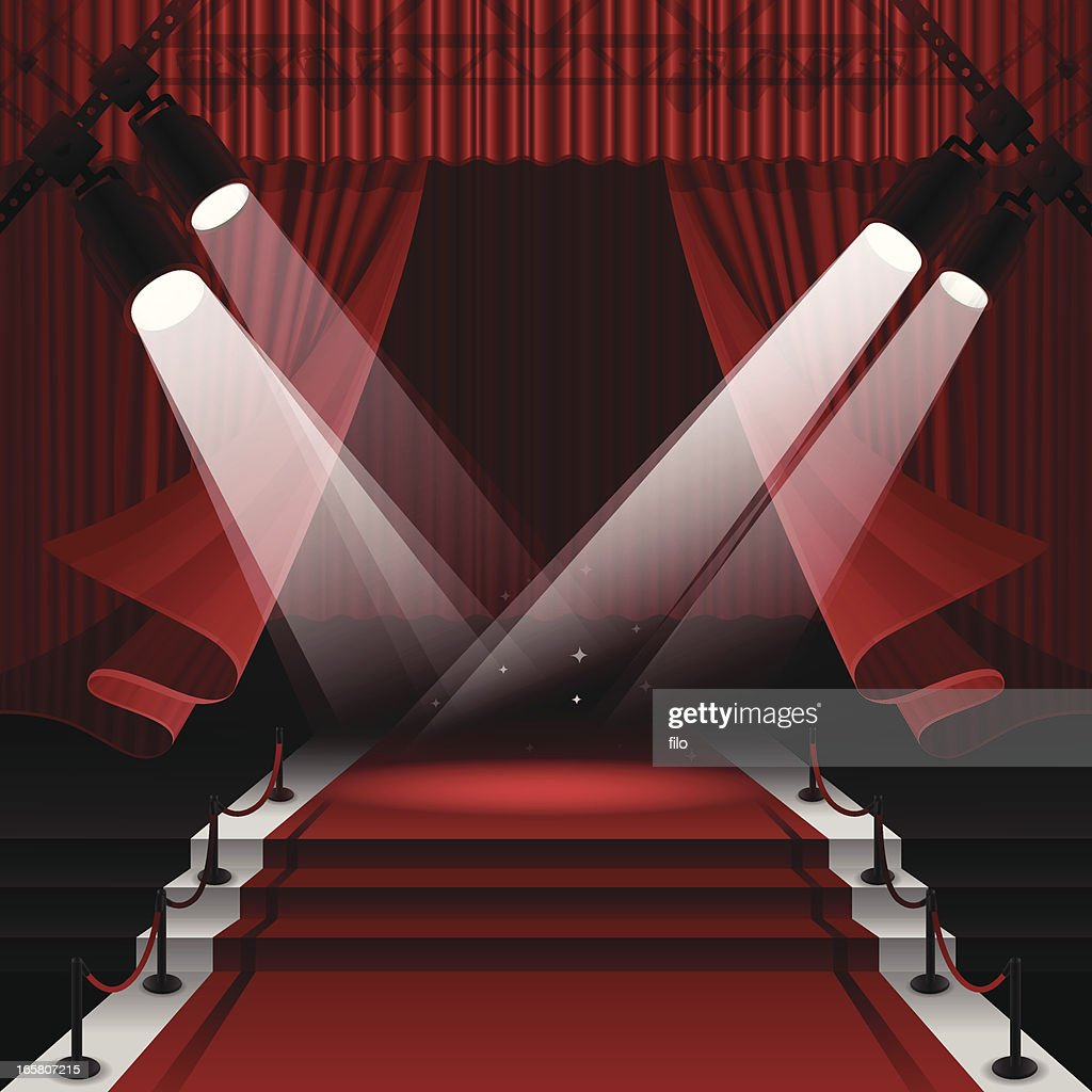 Red Carpet Stage : stock illustration
