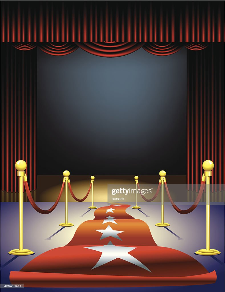 Red Carpet to the Stage : stock illustration