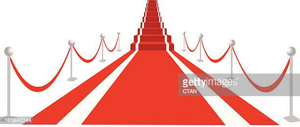red carpet - film premiere stock illustrations