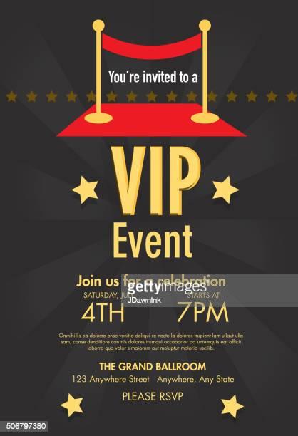 Alfombra roja VIP evento plantilla de diseño de fondo de klein