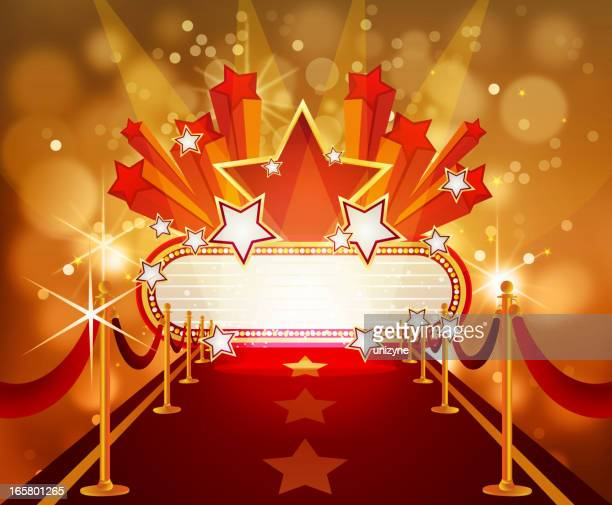 Red Carpet with Marquee and Stars