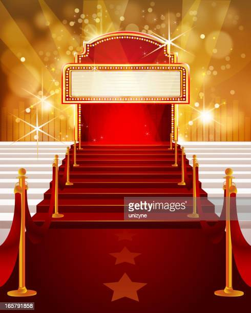 Red Carpet with Marquee and Steps