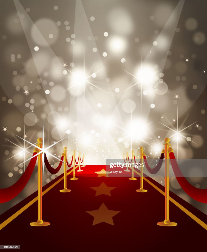 Red Carpet With Paparazzi Flashes High Res Vector Graphic Getty Images