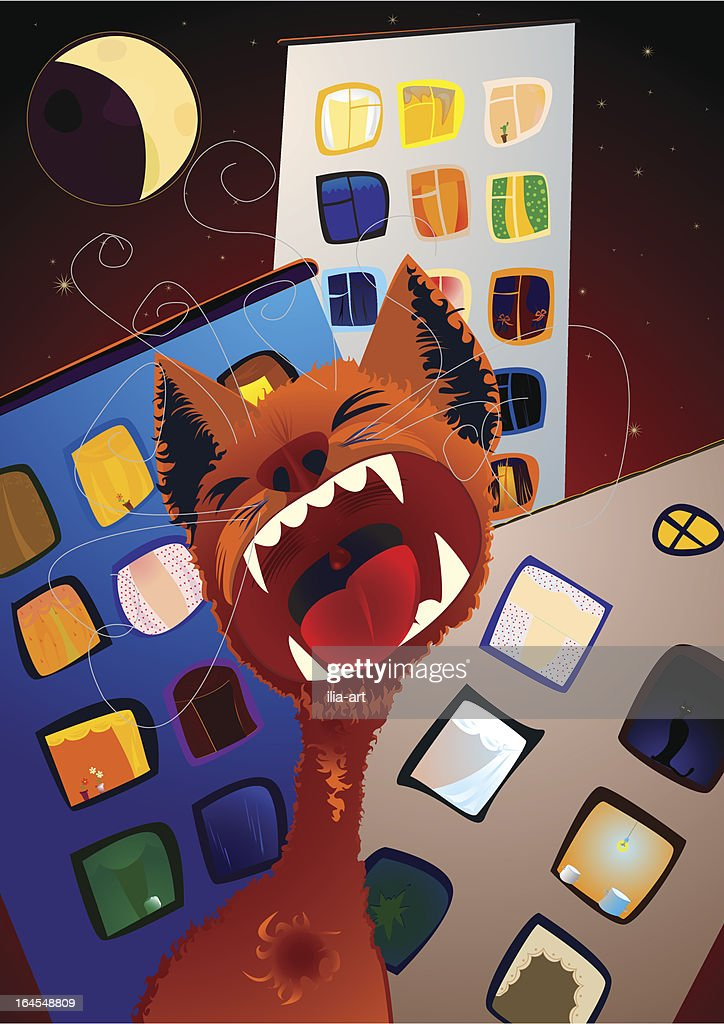 Red Cat Song : stock illustration