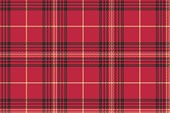 Red check plaid tartan seamless pattern