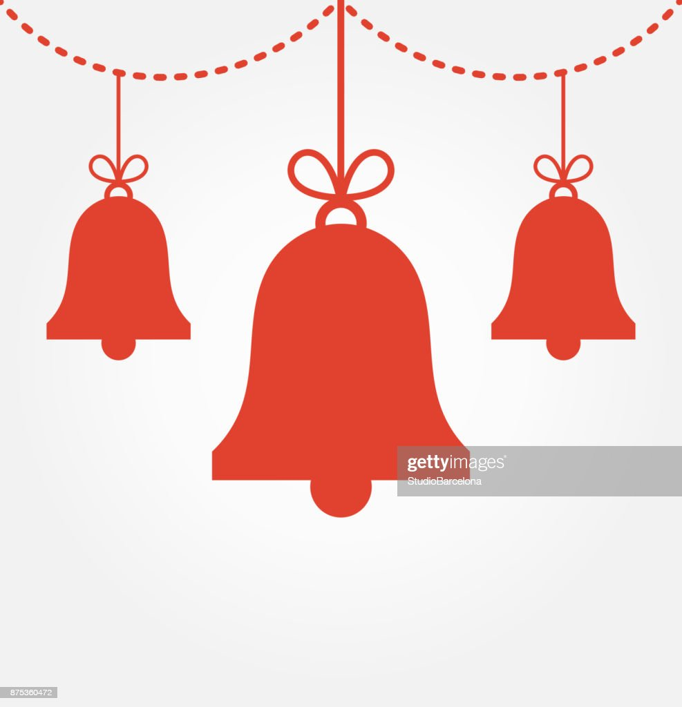 Red Christmas bells ornaments
