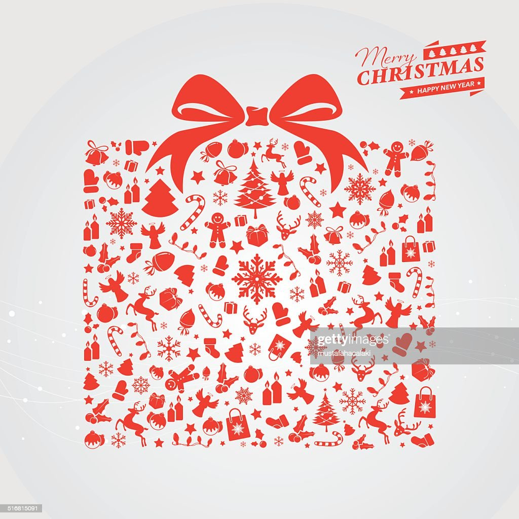 Red Christmas gift box