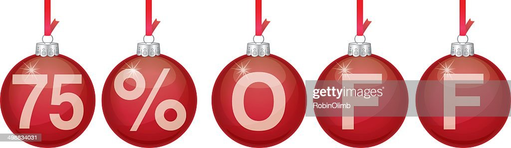 red christmas ornament 75 off vector art - 75 Off Christmas Decorations
